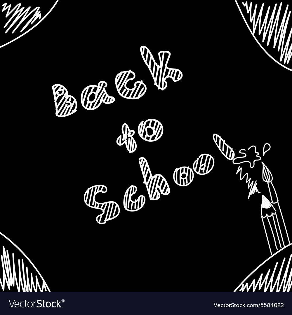 Back to school Start of new school year Eps 10 vector image