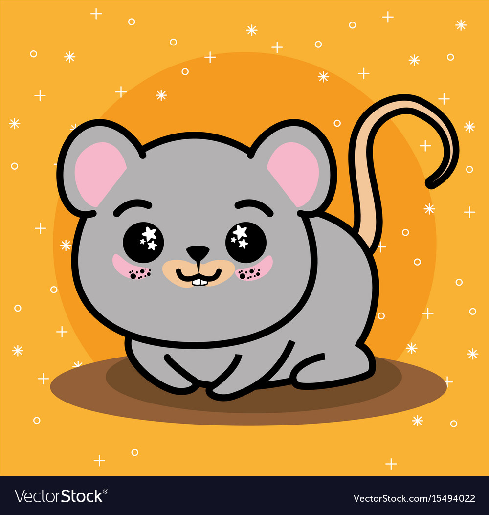 Cute and lovely mouse cartoon