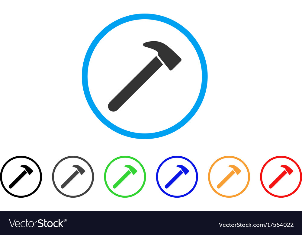 Hammer rounded icon