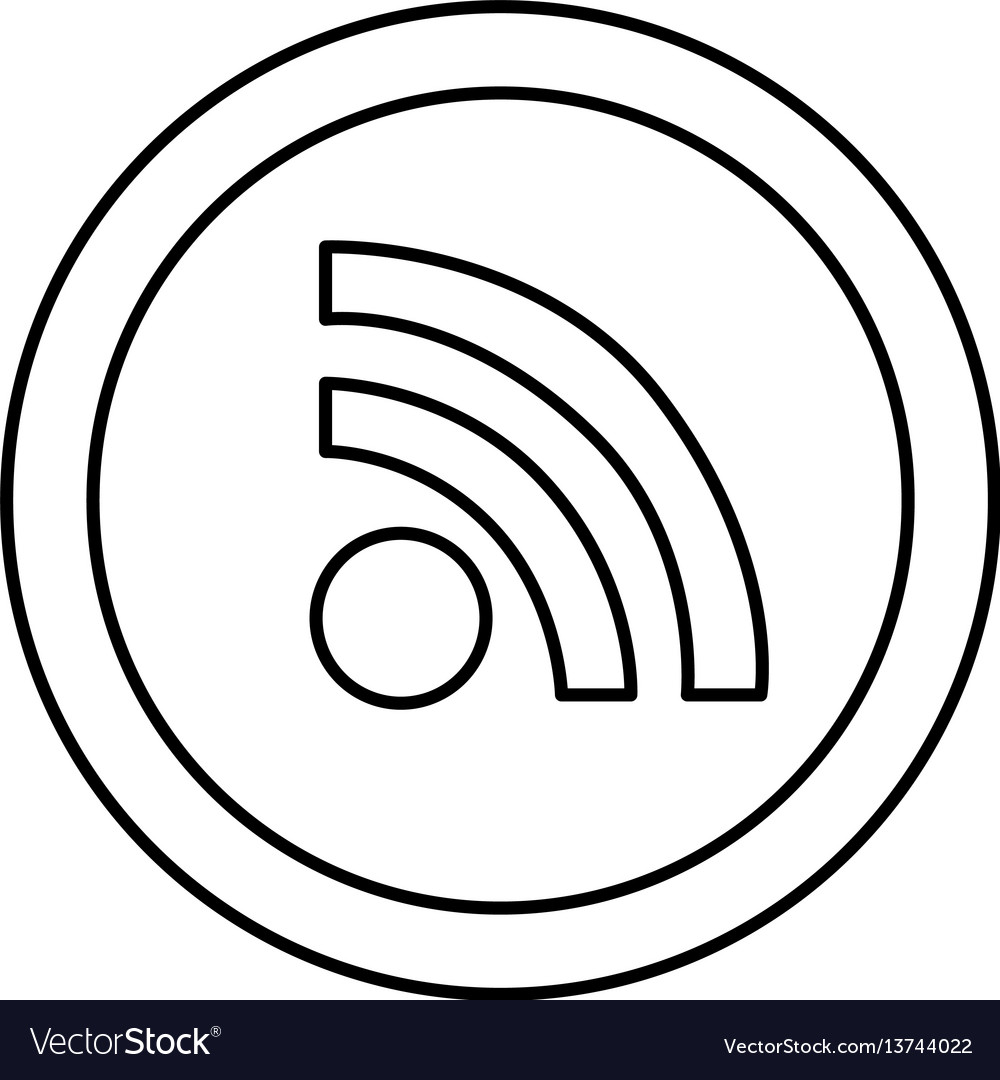Round symbol wifi connection icon