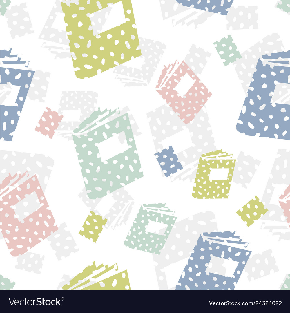 Seamless pattern with books abstract background