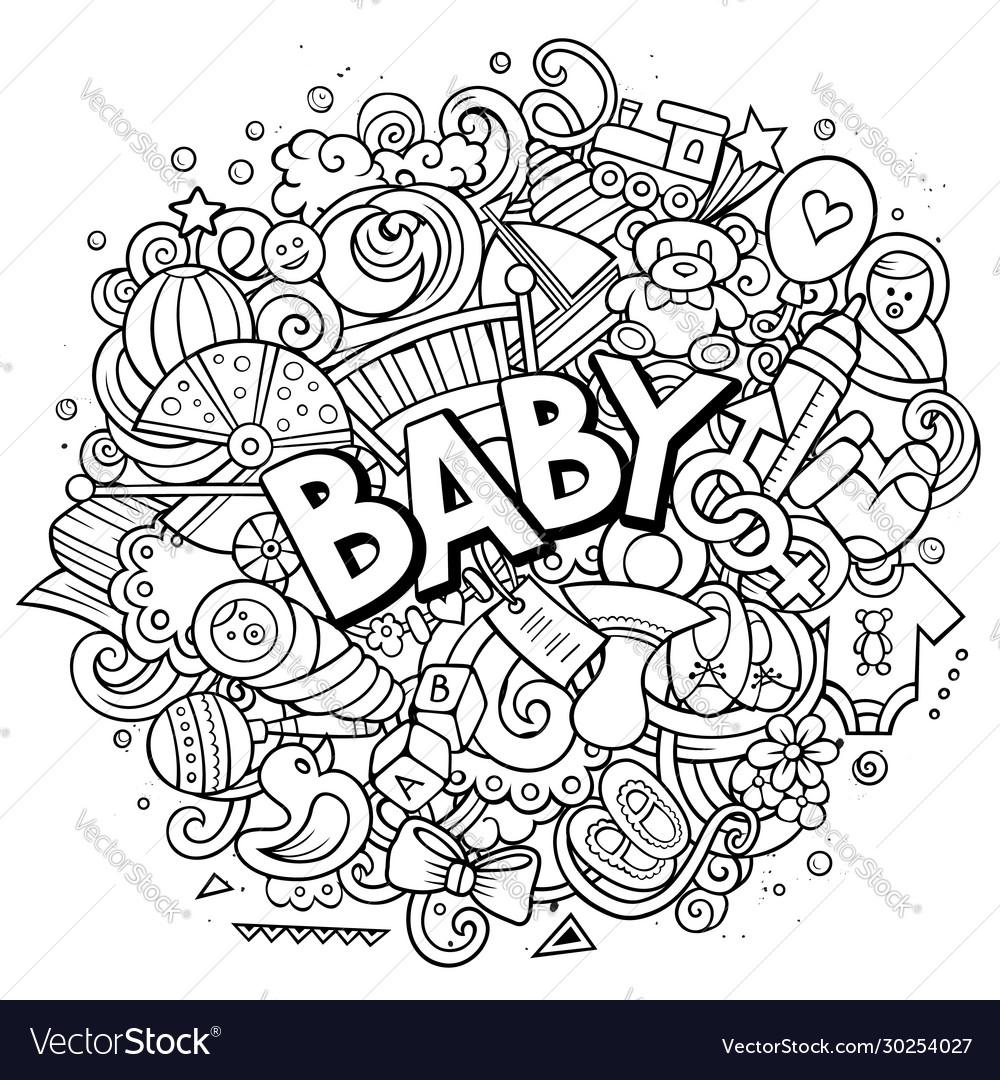 Bahand drawn cartoon doodles