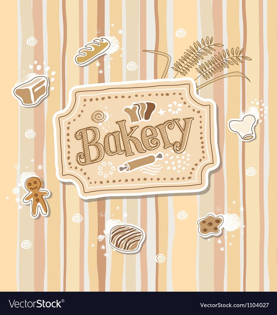 Bakery Label Doodle Sketch