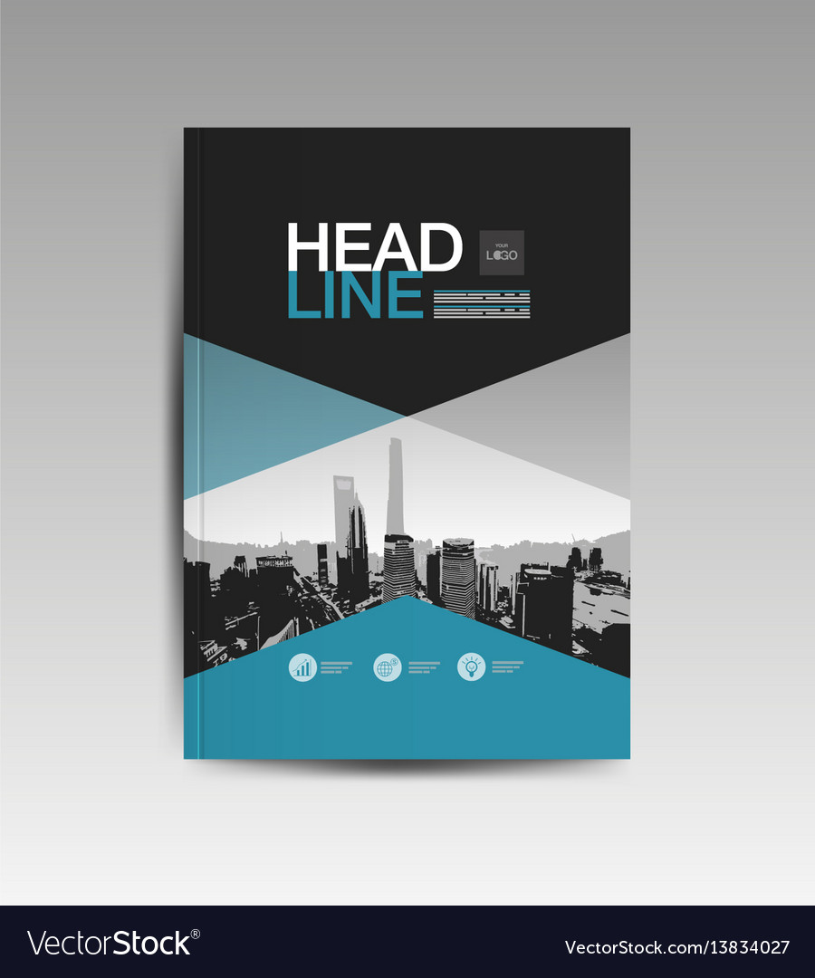 Cover book template layout design annual report