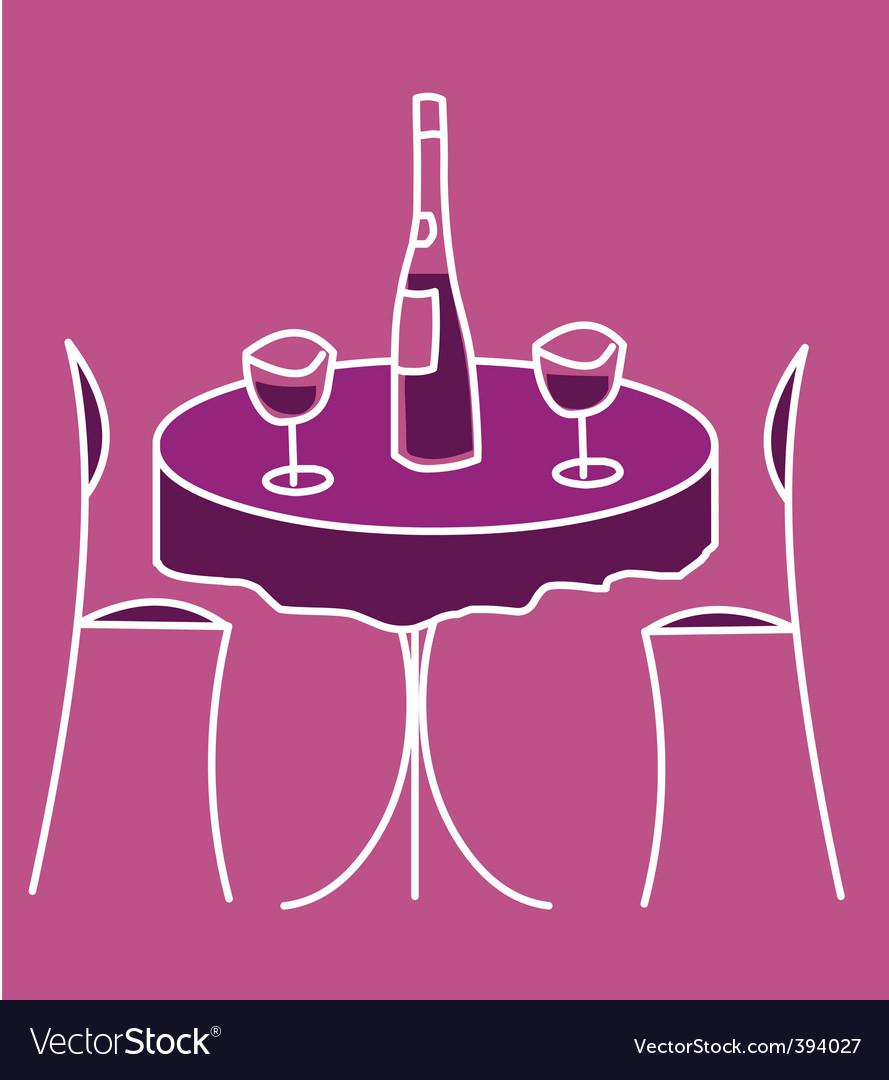 Cute restaurant table