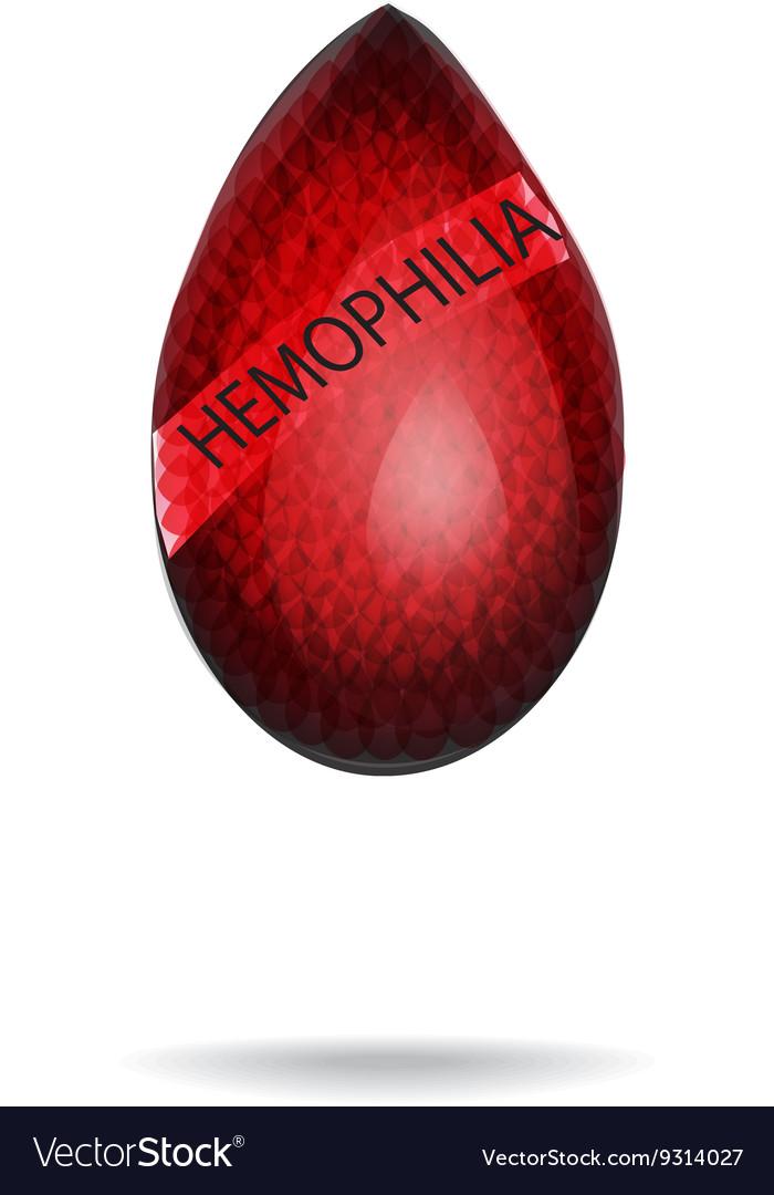 Hemophilia World Hemophilia Day Red drop of vector image