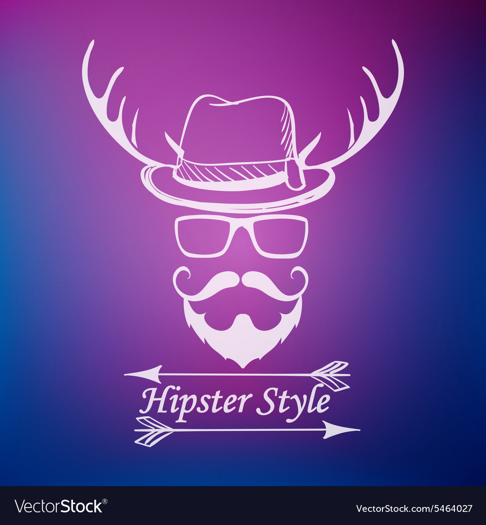 Hipster style label
