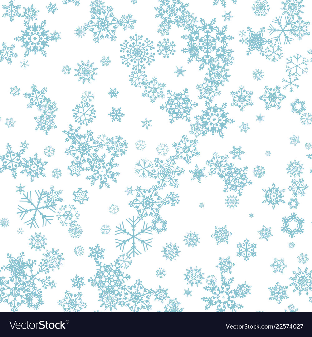 Seamless winter background with snowflakes