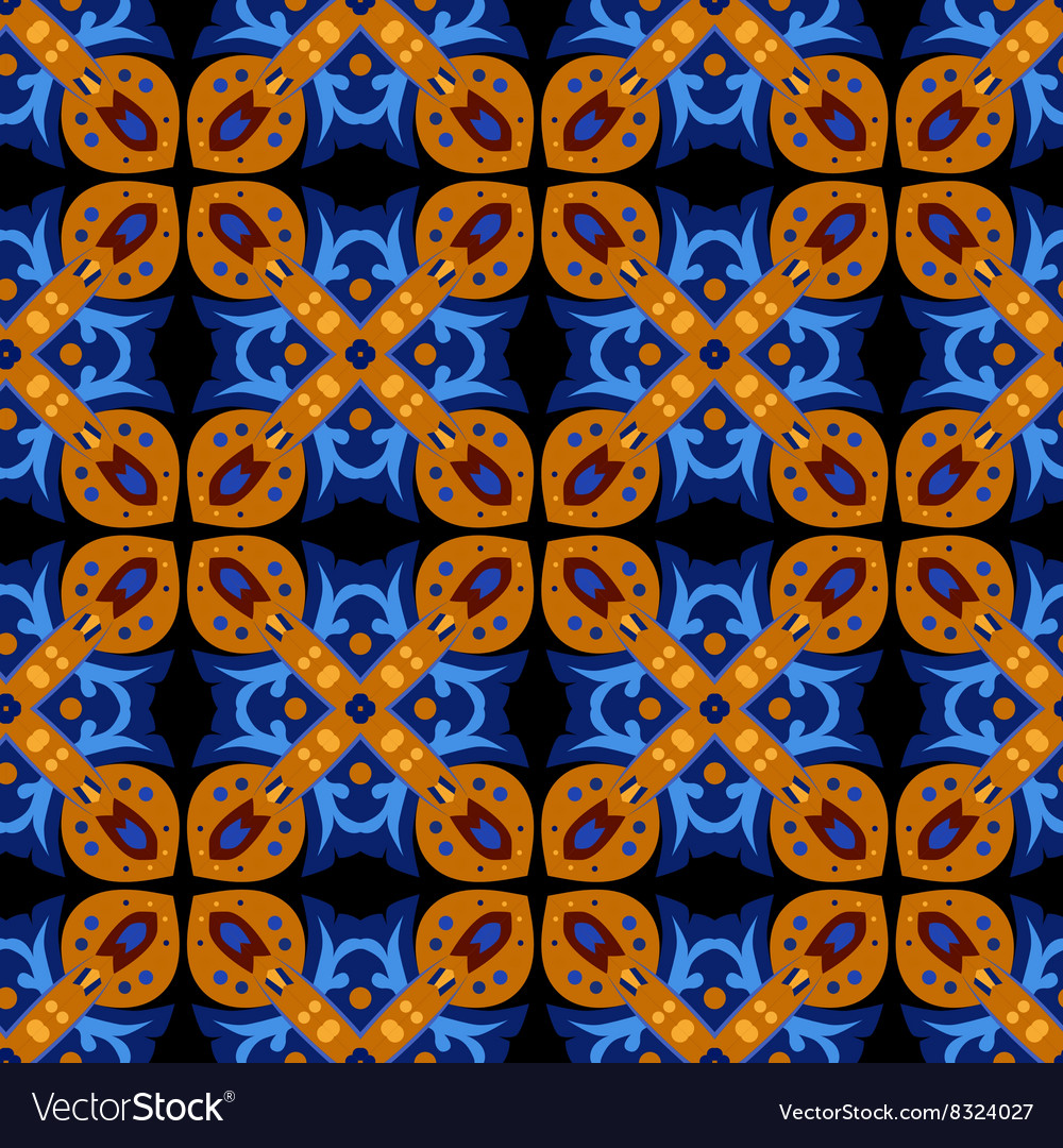 Square ethnic seamless pattern
