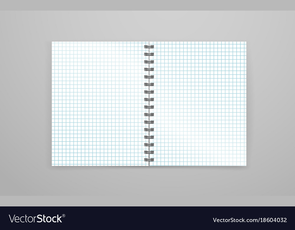 Blank open white notebook vector image
