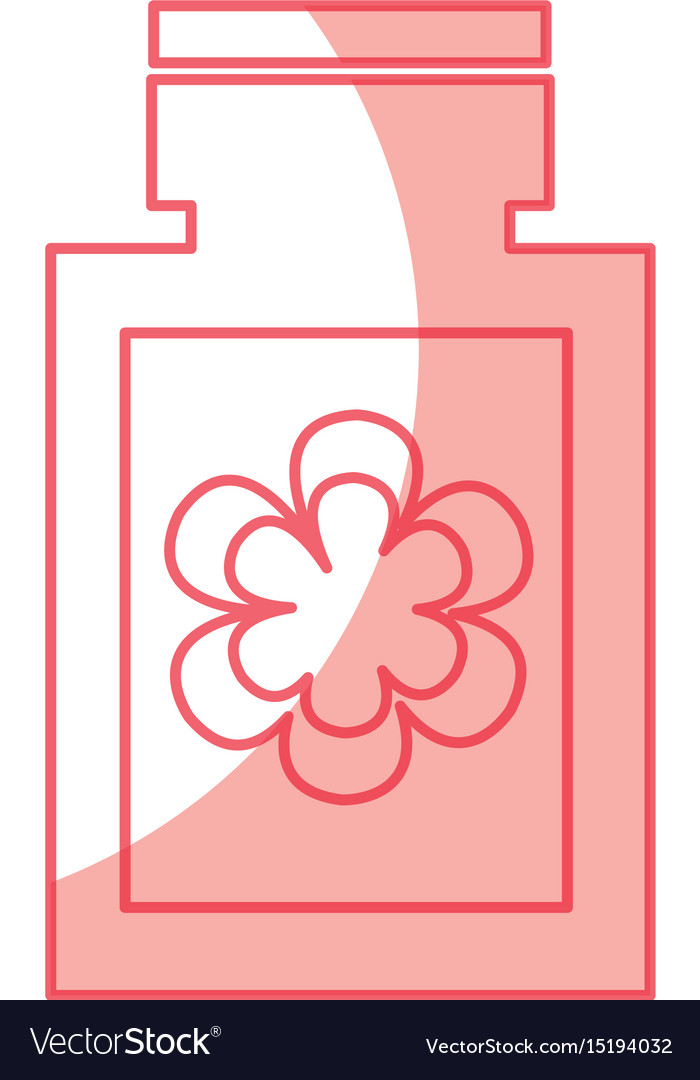 Bottle with flower spa icon