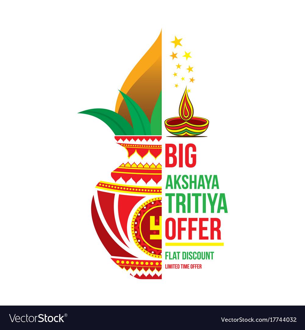 creative akshaya tritya poster design royalty free vector