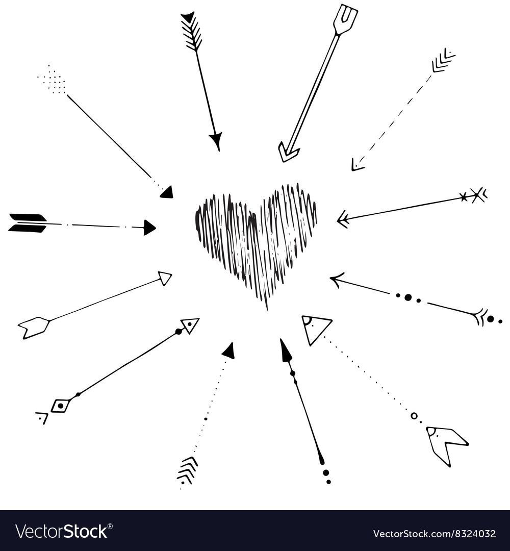 Hand drawn arrow frame