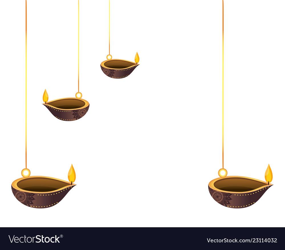 Lanterns oil candles hanging