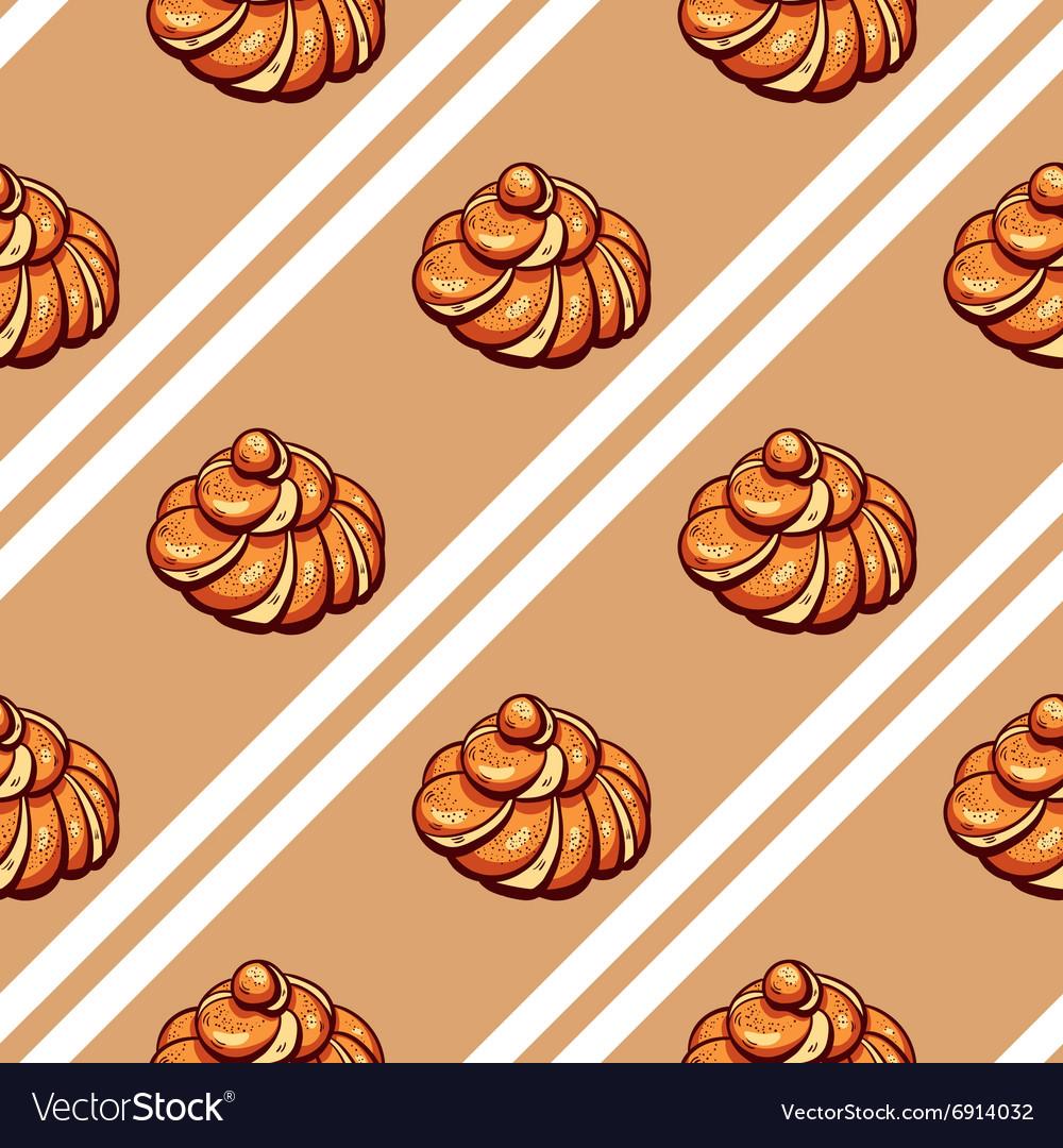 Poppy Seed Buns Seamless Pattern