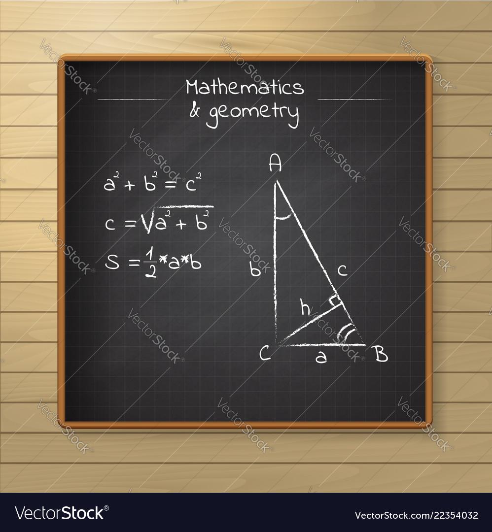 School chalkboard on the wooden background
