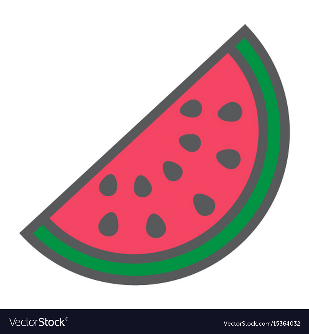 Watermelon line icon fruit and diet