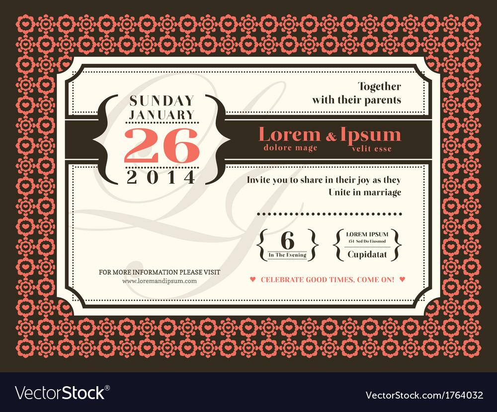Wedding invitation background border frame