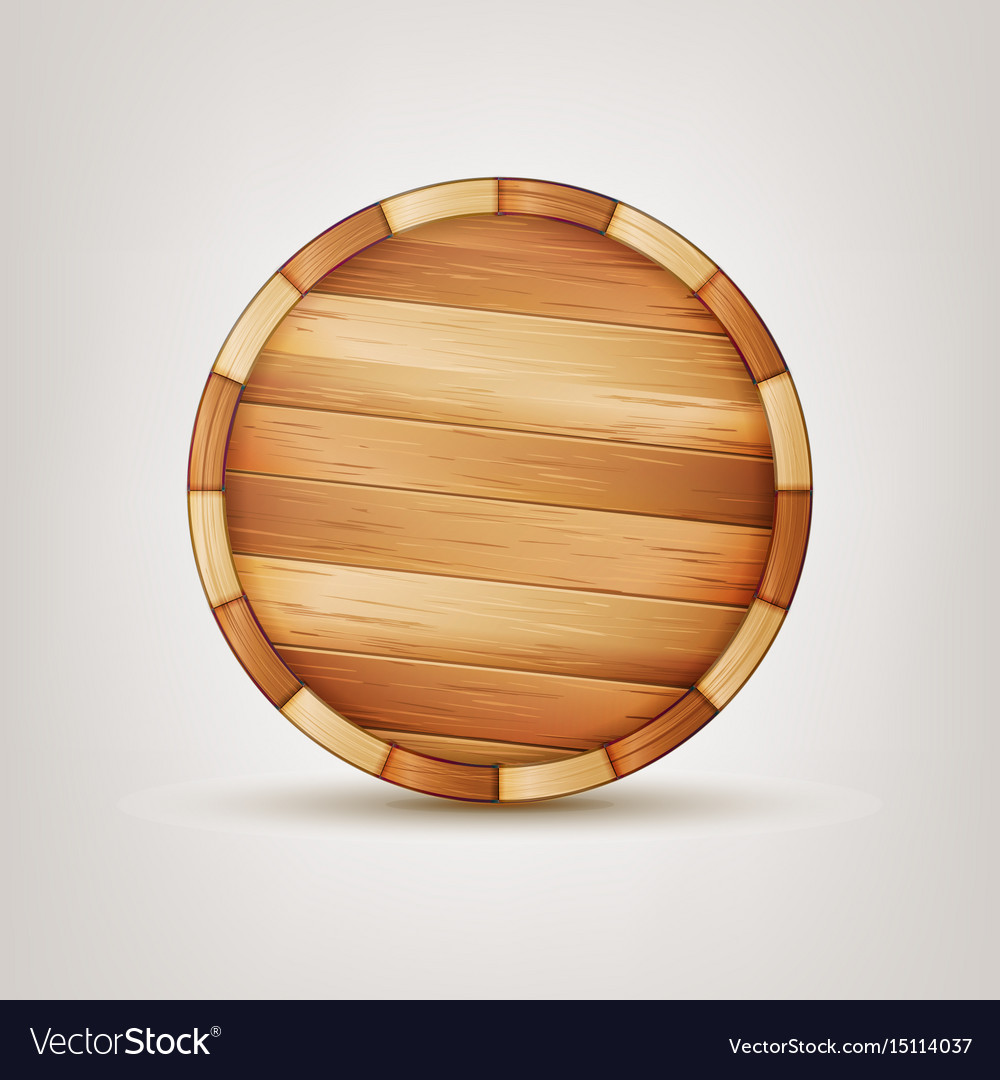 Barrel wooden sign wooden 3d icon