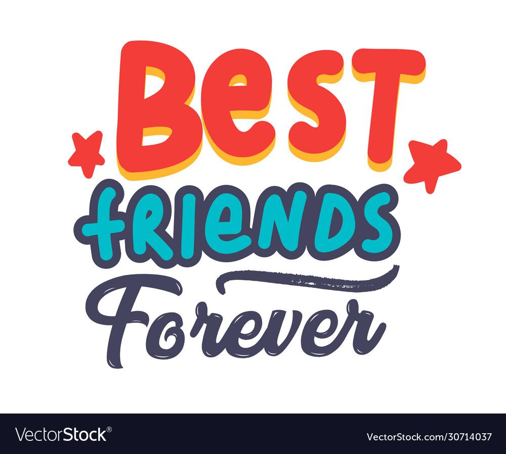 Best friends forever banner or poster