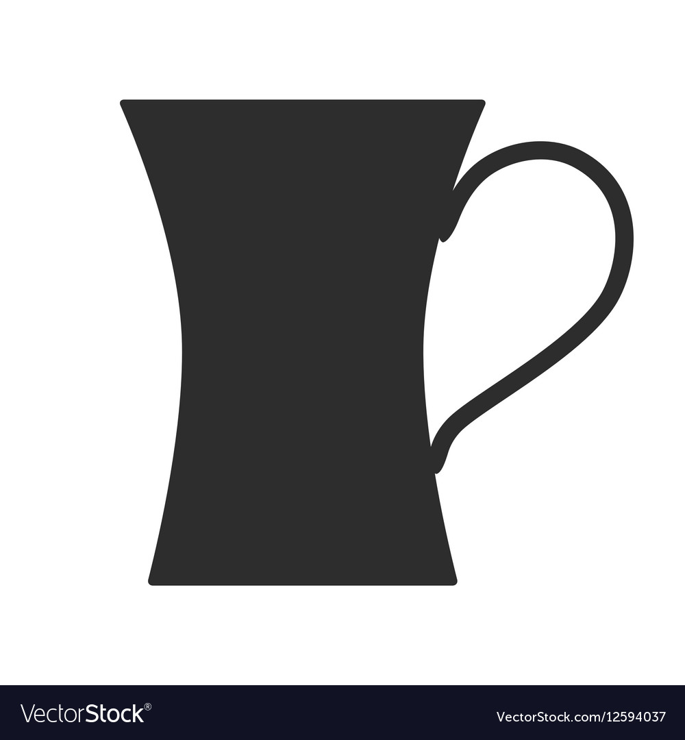 Coffee tea cup Mug for drinks Black silhouette
