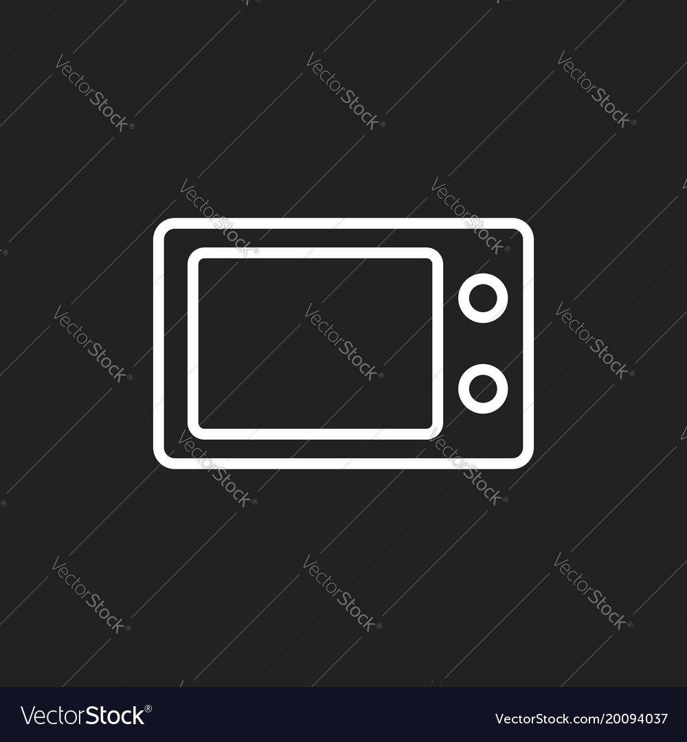 Microwave flat icon microwave oven symbol logo