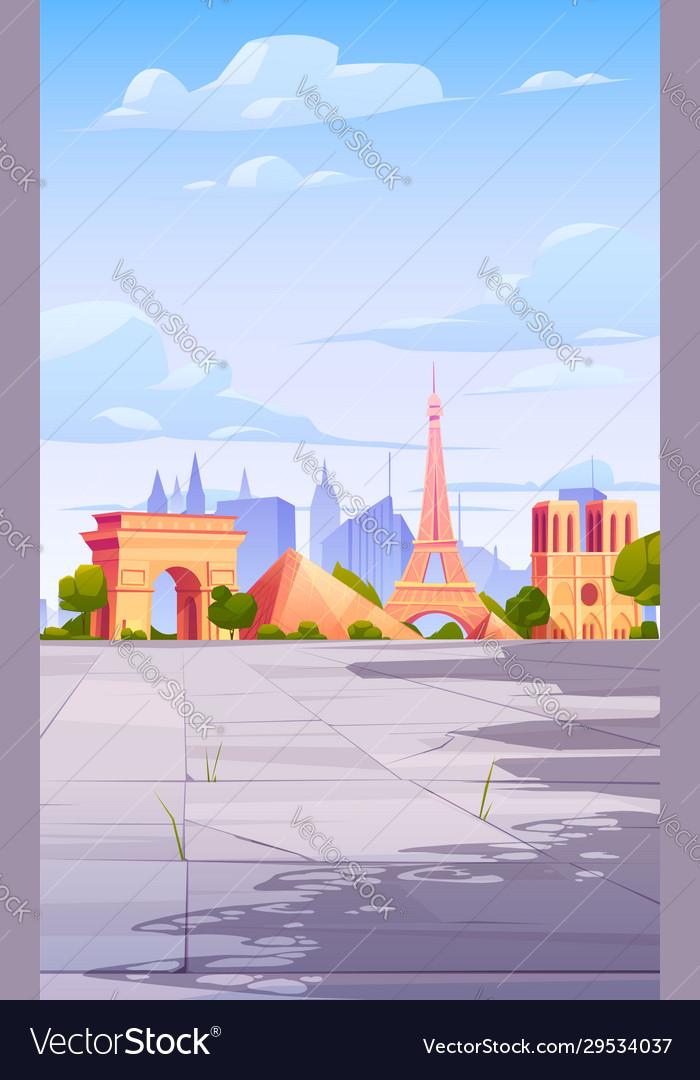Paris landmarks france city skyline background