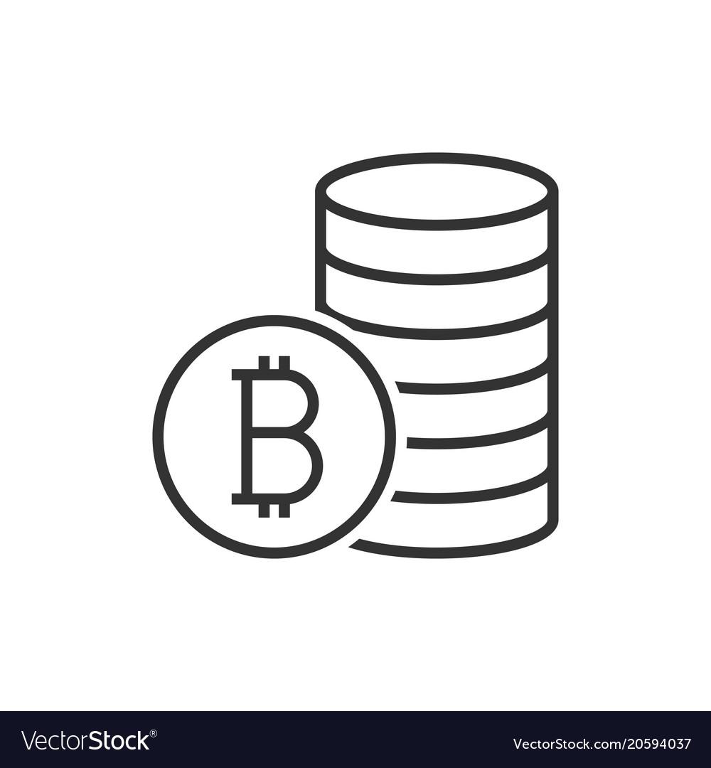 Pile of bitcoin coins icon