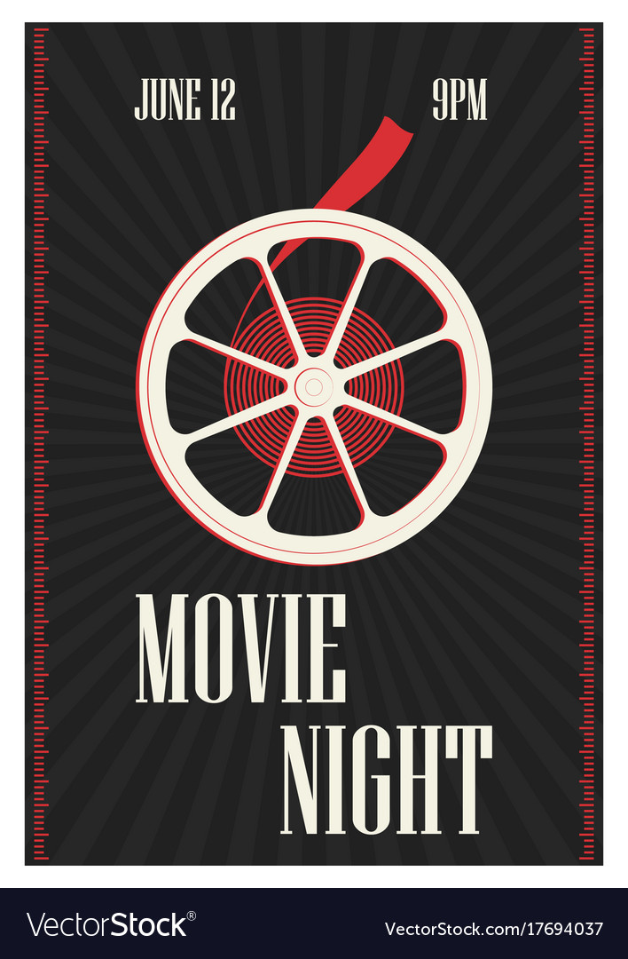 Poster or flyer template for motion picture