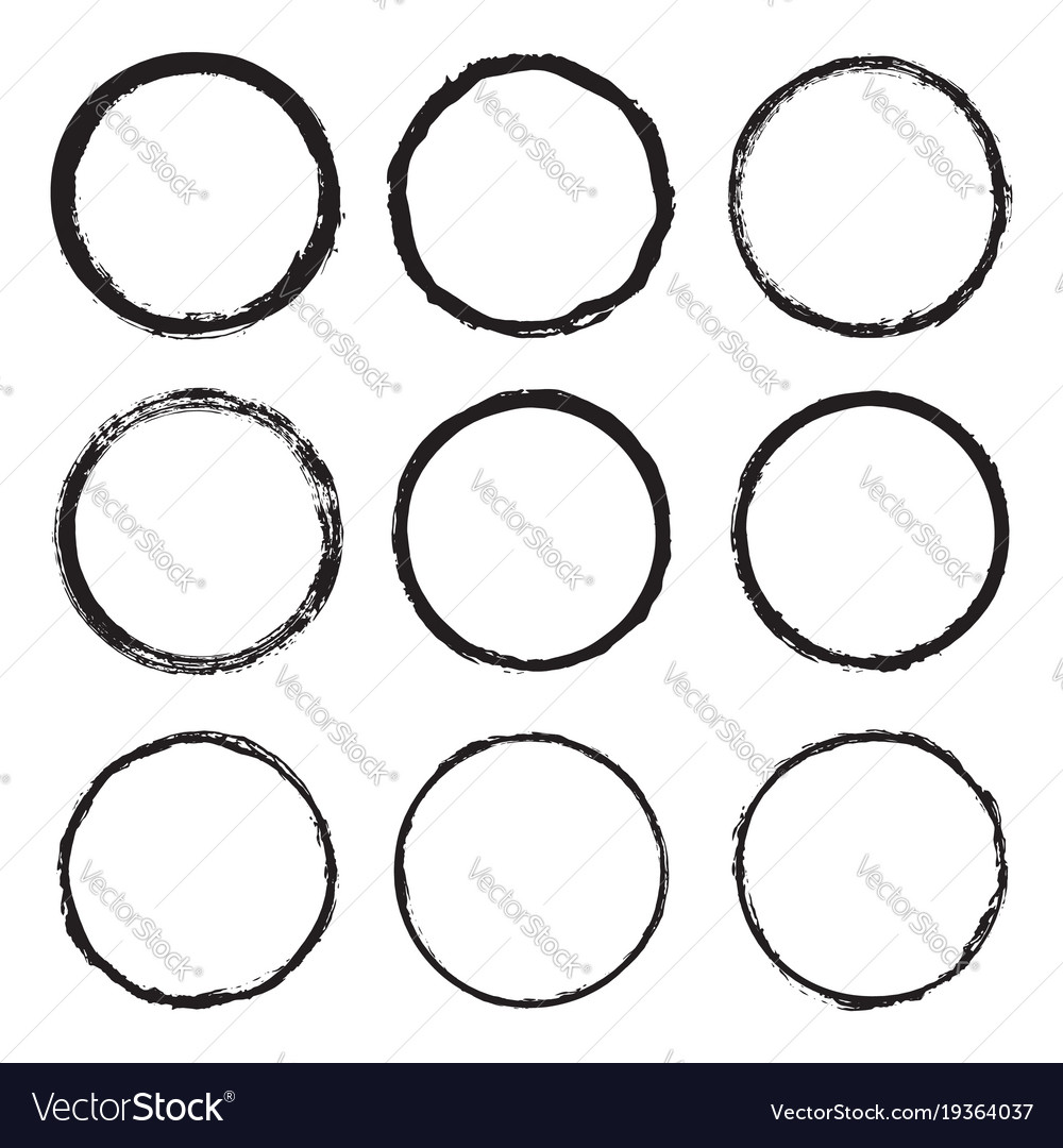 Set round a painted frame 4 vector image
