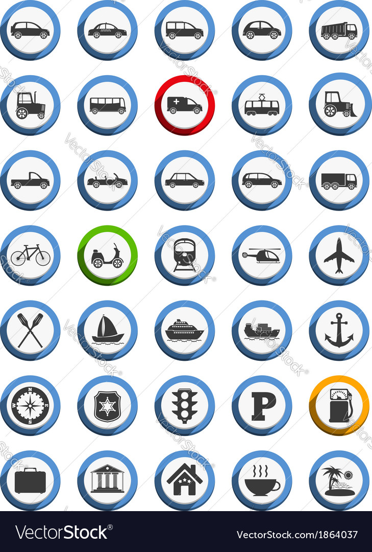 Transportation Nautical and Travel Icons