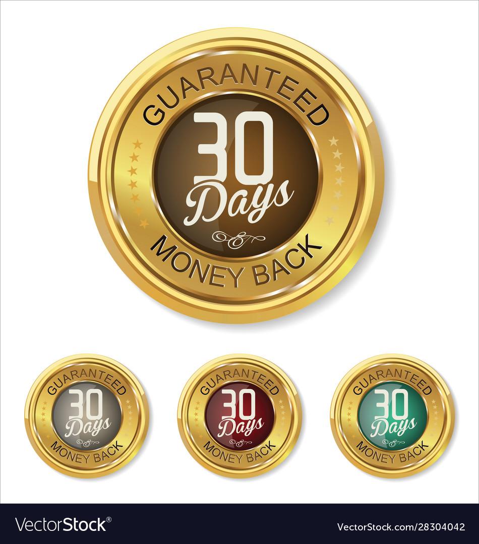 30 days money back button