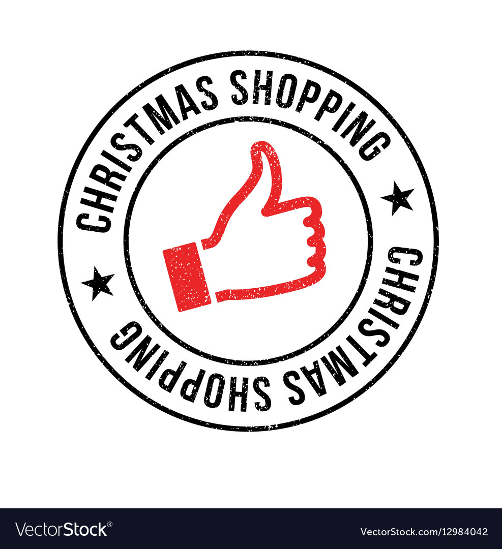 Christmas Shopping rubber stamp vector image