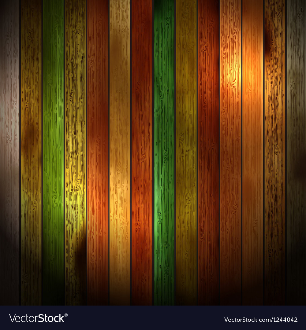 Colorful Wooden Pattern Background Royalty Free Vector Image