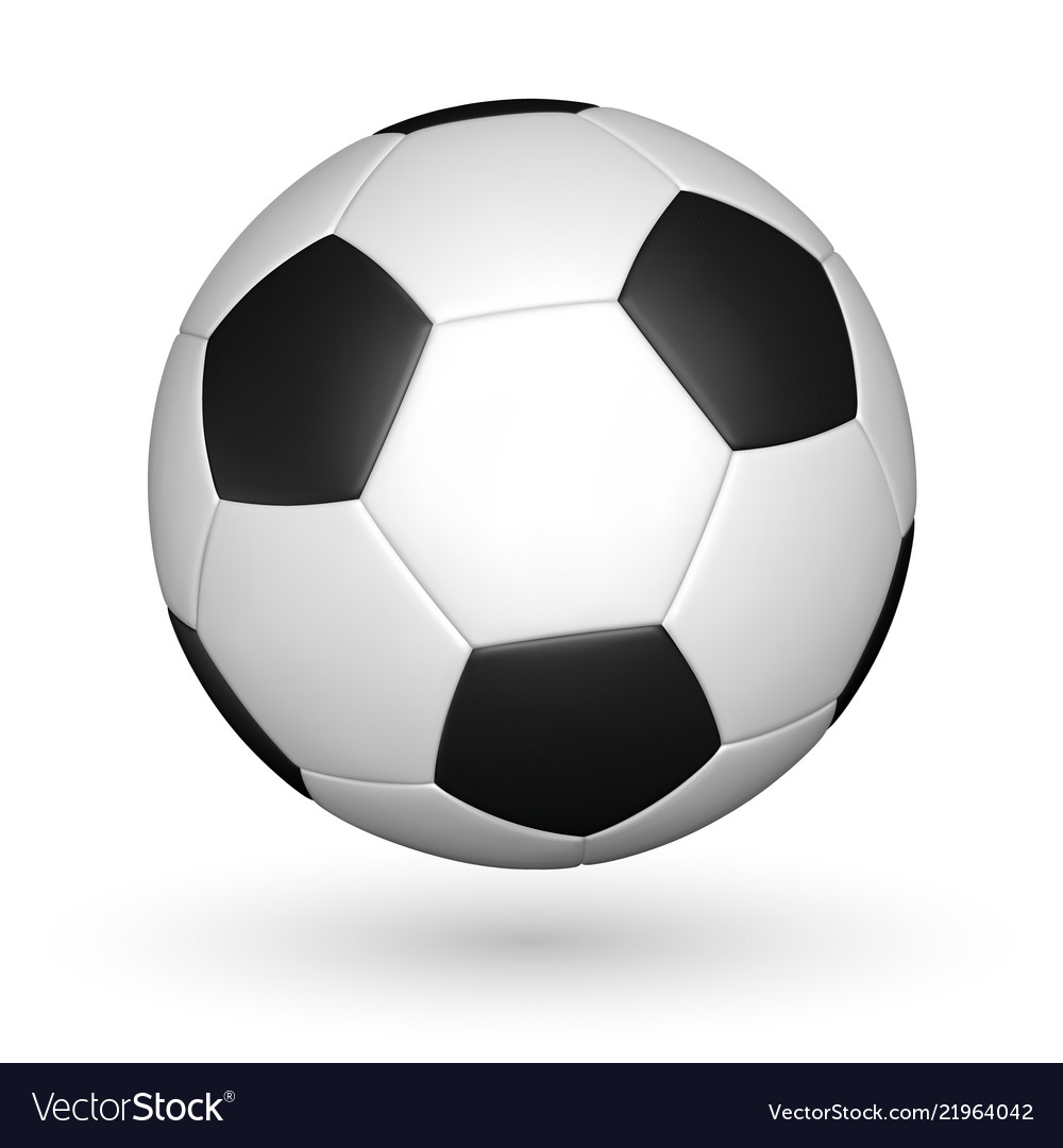 Football ball soccer ball mockup with reflection