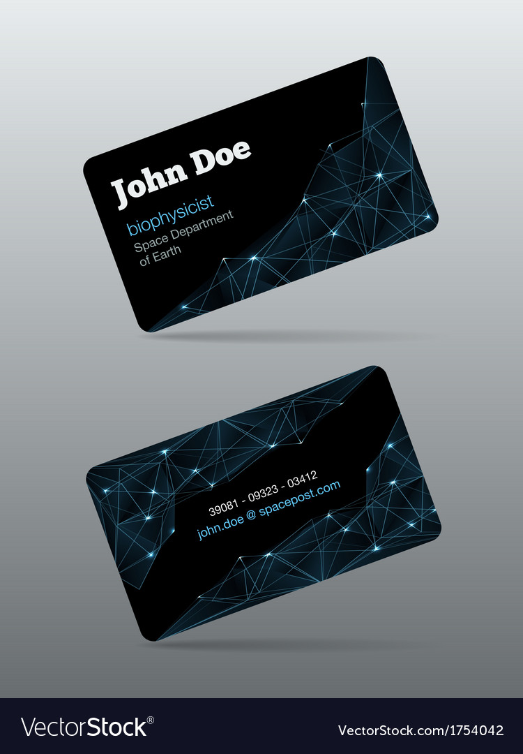 Futuristic business card royalty free vector image futuristic business card vector image reheart Images