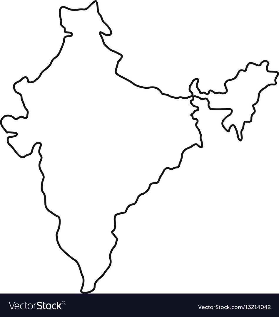 Indian map icon outline style