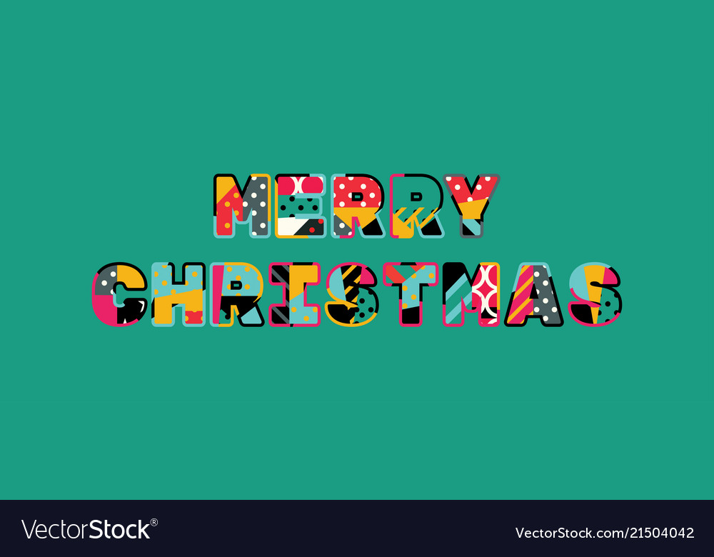 Merry Christmas Concept Word Art