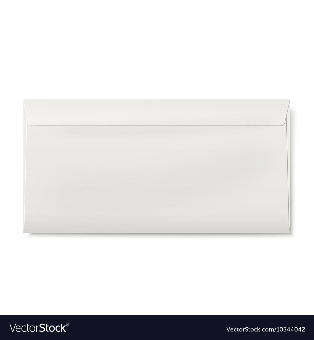 Sealed DL envelope isolated on white background vector image