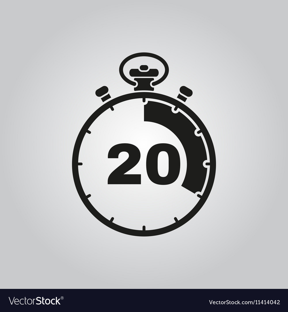 The 20 seconds minutes stopwatch icon Clock and