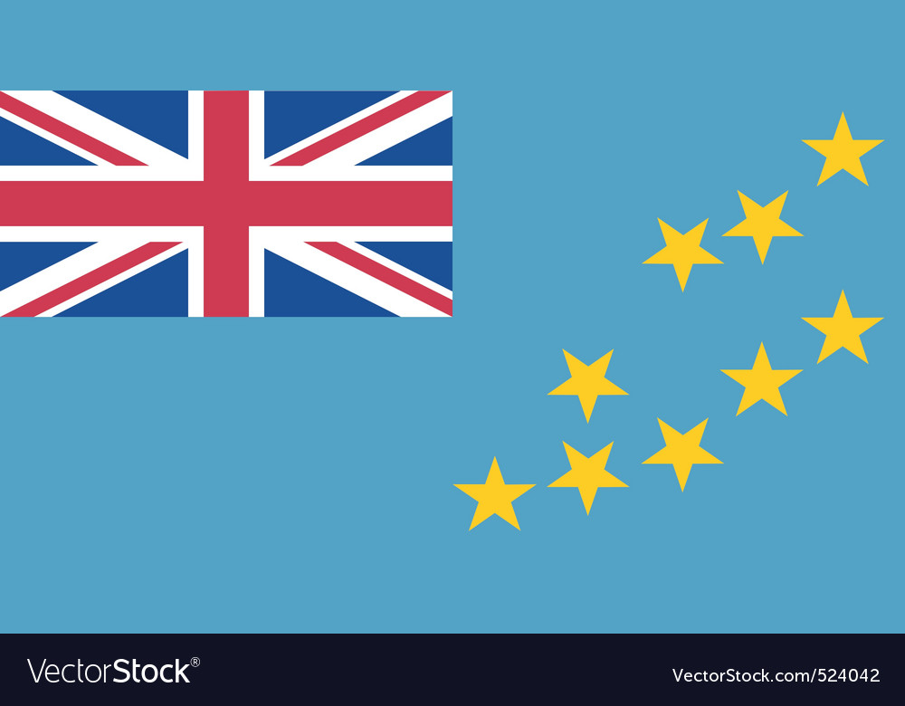 Tuvaluan flag vector image