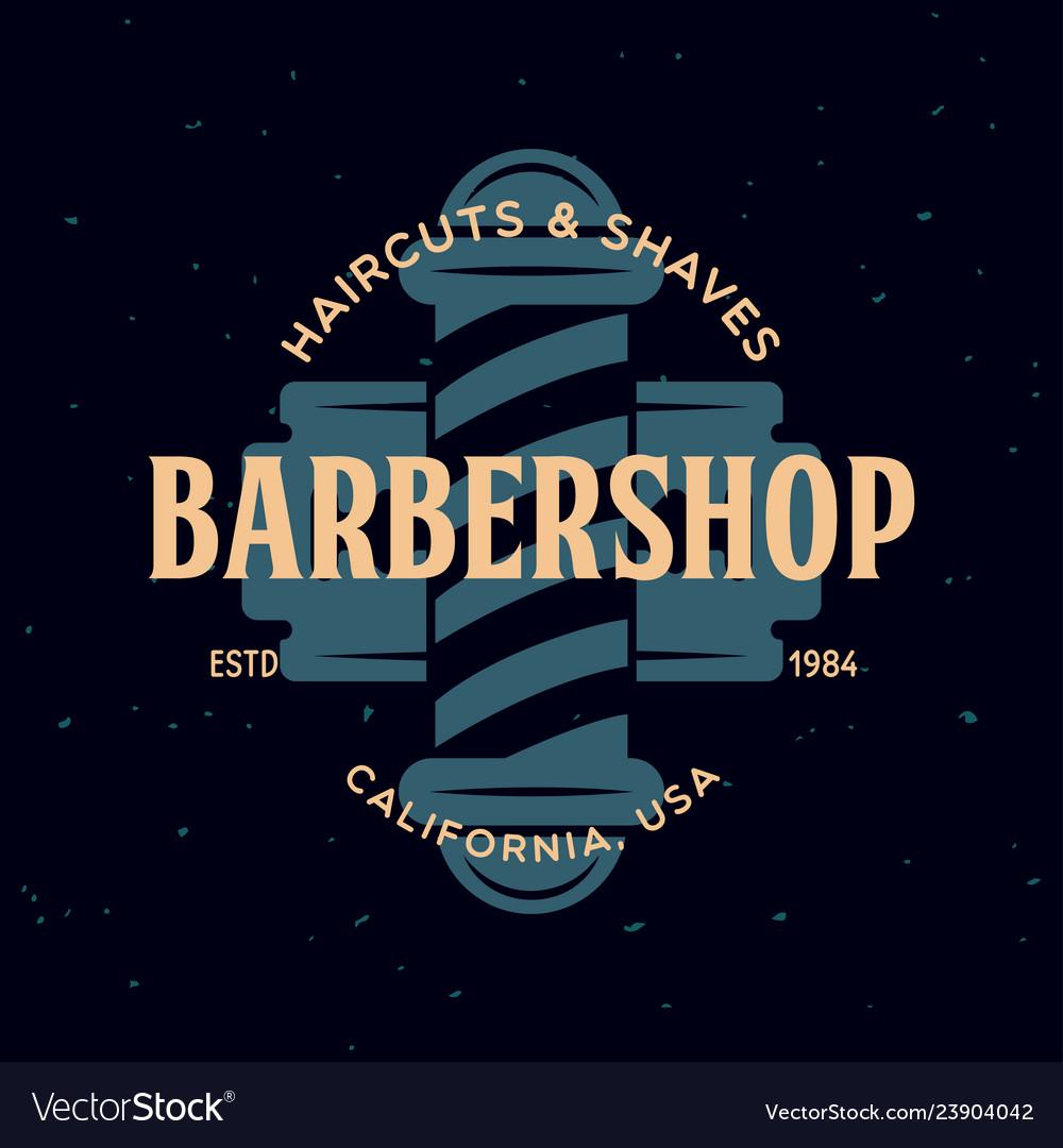 Vintage barbershop label template for the