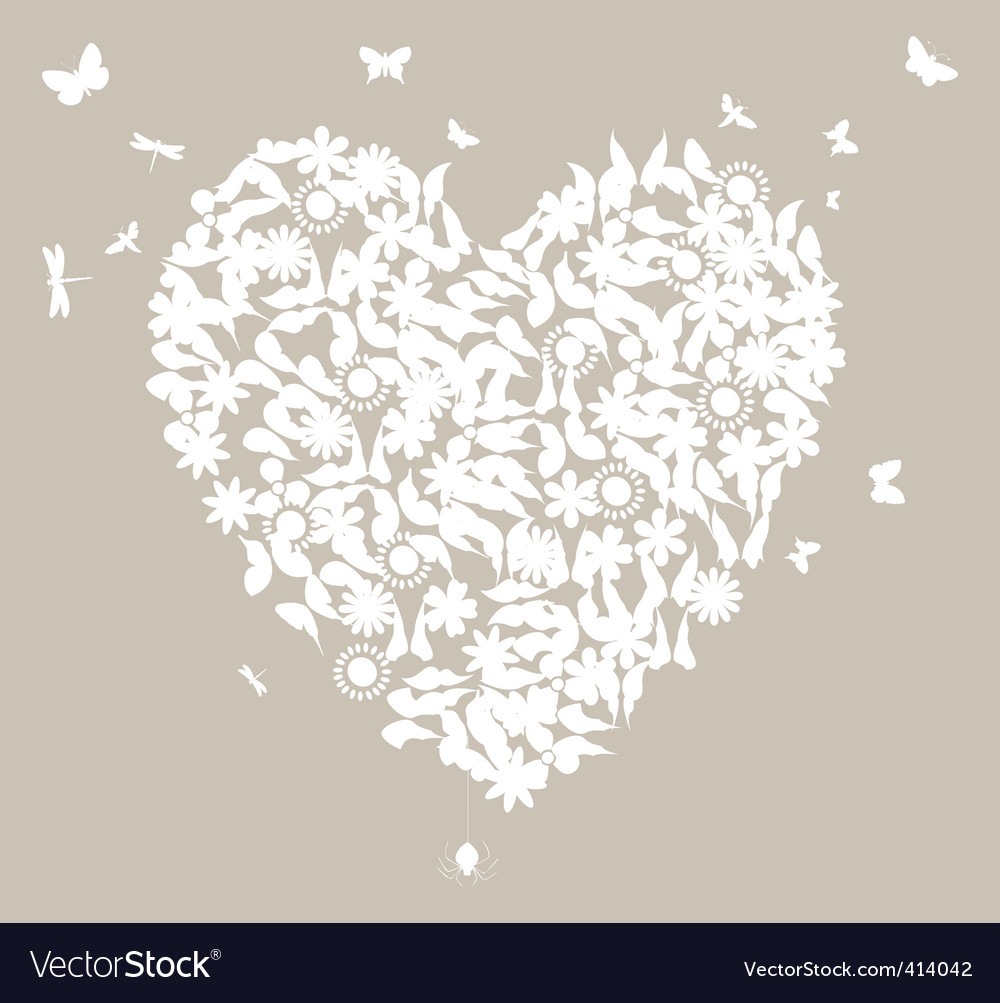 Description white wedding heart on a grey background a vector illustration