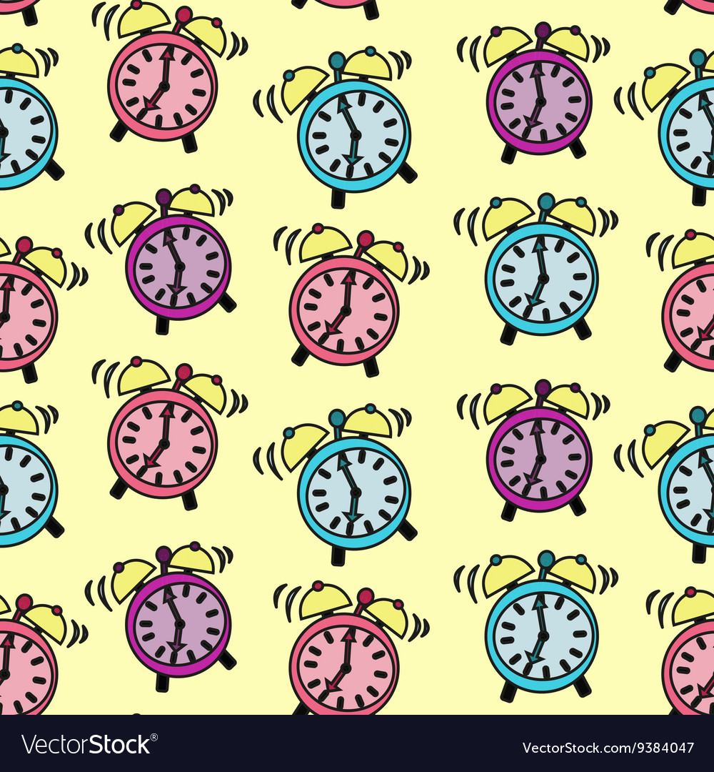 Alarm Clock rings vector image