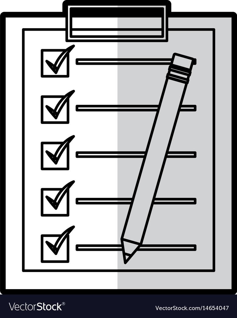 Checklist clipboard isolated icon