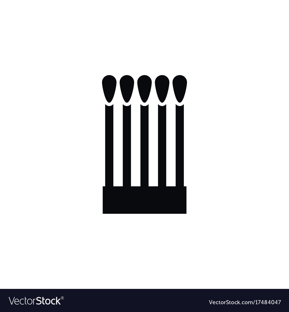 Isolated matchstick icon fire element can