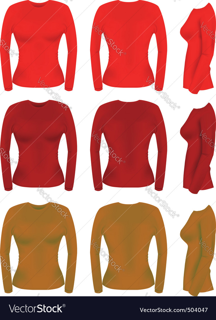 Long sleeve t-shirt templates
