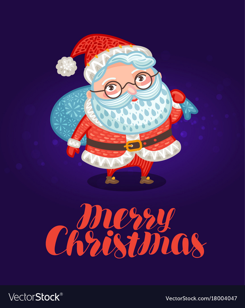 Merry christmas greeting card or xmas banner vector image