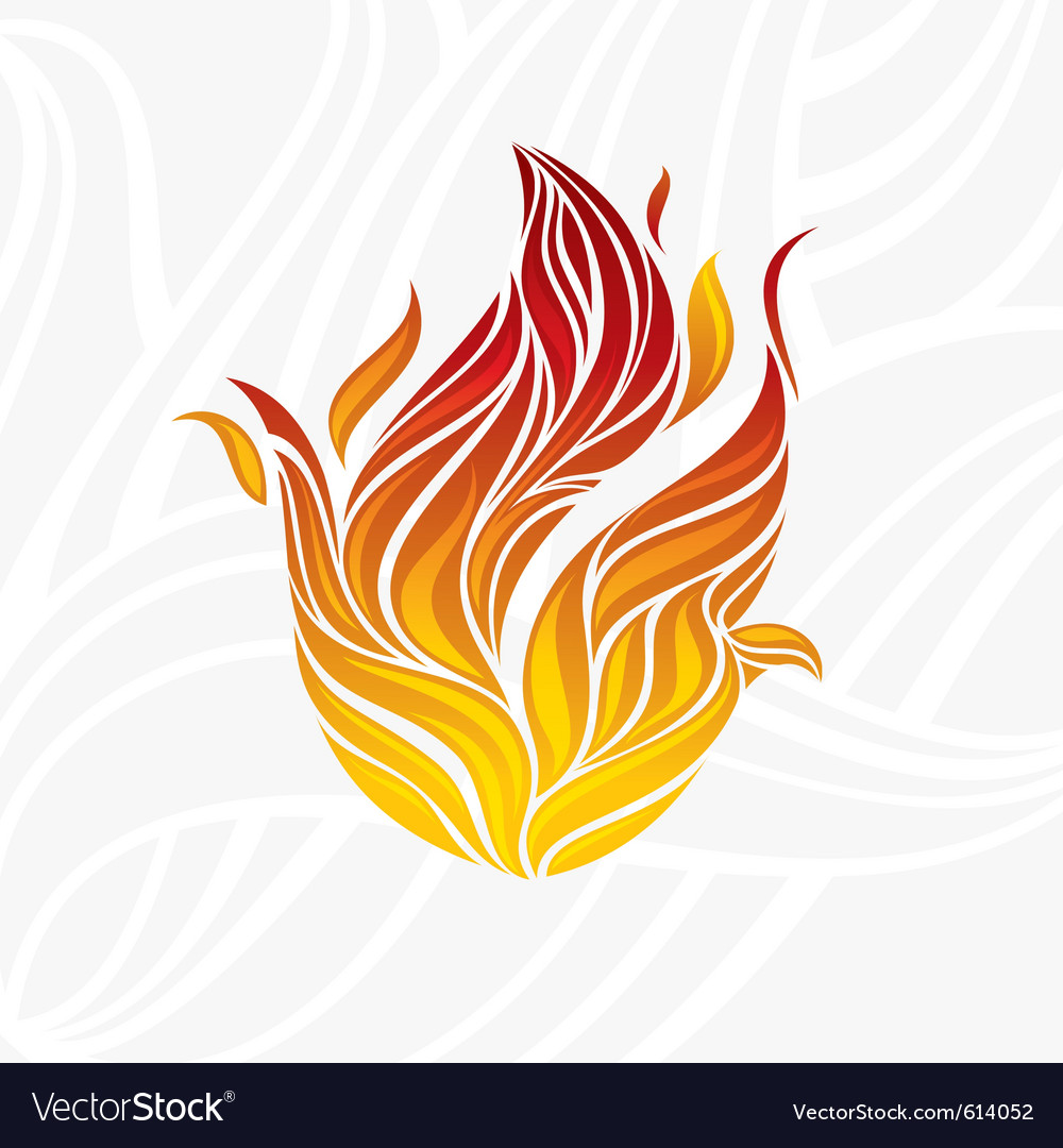Artistic fire vector image
