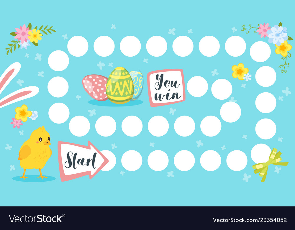 Easter board game template